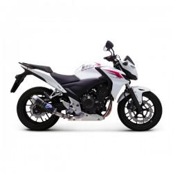 Silencieux Termignoni homologué look carbone Honda CB 500/CBR 500 2013-2015 (illustration finition carbone embout inox)