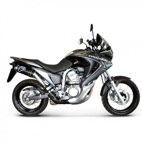 Silencieux Termignoni homologué alu Honda Transalp 700 2008-2012, illustration version carbone (référence H078080CR)