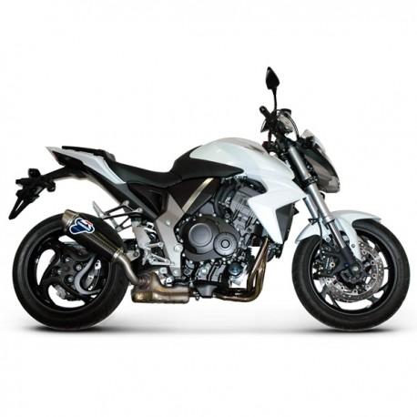 Silencieux Termignoni homologué titane Honda CB 1000 R 2008-2016. Illustration version carbone (réf. H080080CO)
