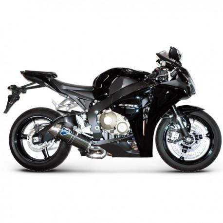 Silencieux Termignoni homologué alu Honda CBR 1000 RR 08-13, illustration version carbone (H081080CO)