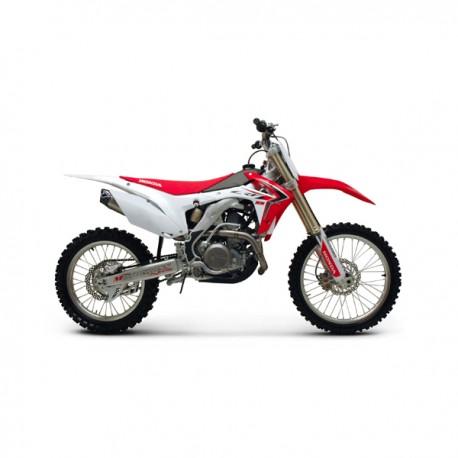 Collecteur + silencieux Termignoni inox carbone Honda CRF 450 R 2014