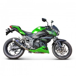 Silencieux Termignoni tout carbone Kawasaki Ninja 300 2013-2016 (illustration version carbone / inox, ref. K074094CVI)