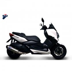 Silencieux Termignoni inox embout carbone Yamaha Xmax 400 (10-16). Ref. Y11009040IIC