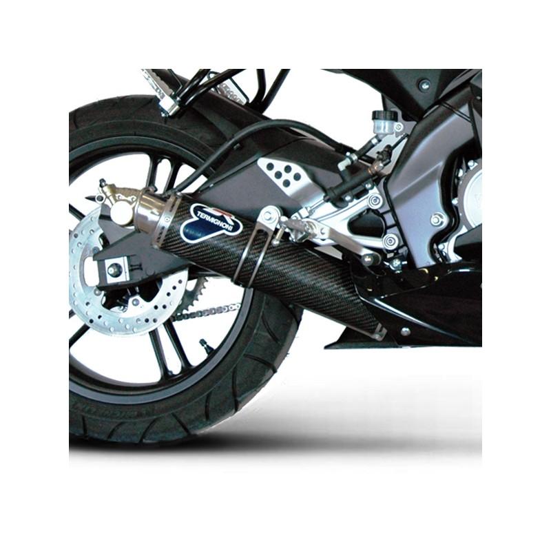 TERMIGNONI LIGNE COMPLETE RACE ROUND CARBONE YZF-R 125 2010 10 2011 11 Y088094CR