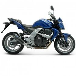 Silencieux Termignoni homologué Kawasaki Z 750 2007-2012, illustration version tout carbone (ref. K065080CC)