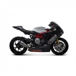 Silencieux Termignoni racing titane / carbon MV Agusta Brutale 675 / 800 2012-2016