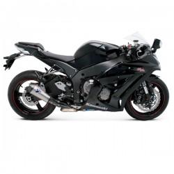 Silencieux Termignoni inox / carbone homologué Kawasaki ZX10 R 2010-2016