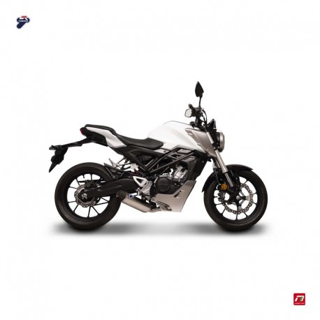 Ligne Termignoni finition titane / carbone Honda CB 125 R (18-19)