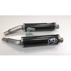 Set of slip on silencers Termignoni racing carbon for Ducati Monster 400, 600, 620, 695, 750, 800, 900, 916 S4, 1000