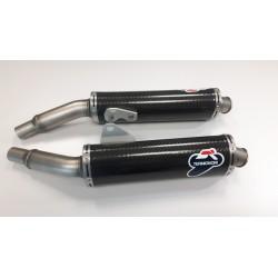 Set of slip on silencers Termignoni racing carbon for Ducati Monster Monster 620, 695, 750, 800, 900, 916, S4, 1000