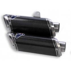 Paire de silencieux Termignoni carbone pour Ducati Streetfighter 848 (12-15), Streetfighter S 1098 (09-13)