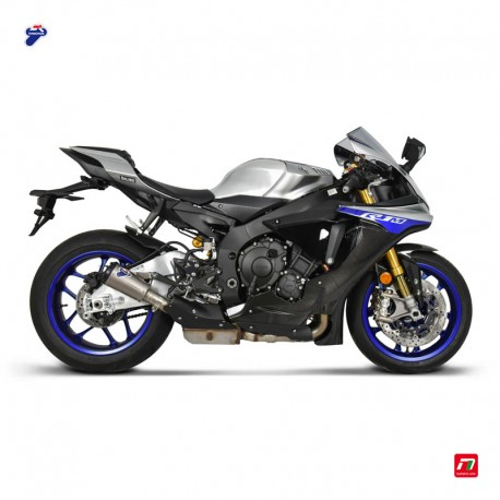 Slip on exhaust Termignoni titanium with CNC alloy anodised end cap for Yamaha YZF-R1 2015-2019