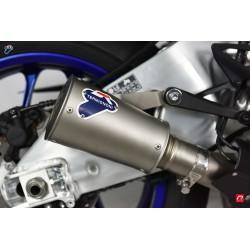 Silencieux Termignoni conique inox embout inox pour Yamaha YZF-R1 2015-2019