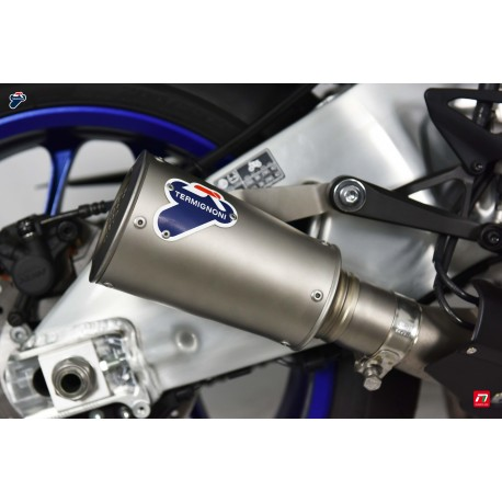 Slip on exhaust Termignoni stainless steel with stainless steel end cap for Yamaha YZF-R1 2015-2019