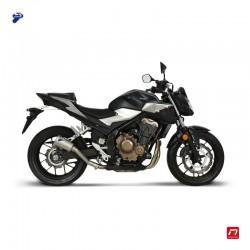 Silencieux Termignoni conique inox embout inox pour Honda CB 500 F / X A2, CBR 500 R / A2 2019