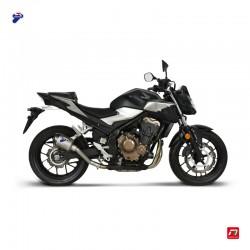 Silencieux Termignoni hexagonal titane et carbone pour Honda CB 500 F / X, CB 500 F / X A2, CBR 500 R / R A2 2019