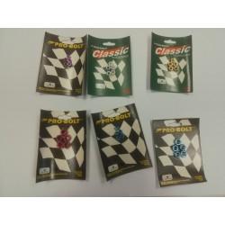 Pack de 5 écrous en Aluminium M5, M6 ou M8 anodisés argent, or, rouge, violet