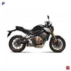 Complete exhaust Termignoni with silencer conical - hexagonal titanium carbon for Honda CB / CBR 650 R 2018-2020