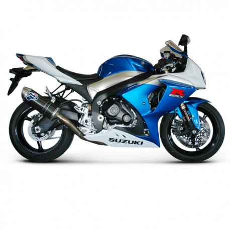Paire silencieux Termignoni carbone homologués Suzuki GSX-R 1000 2009-2011