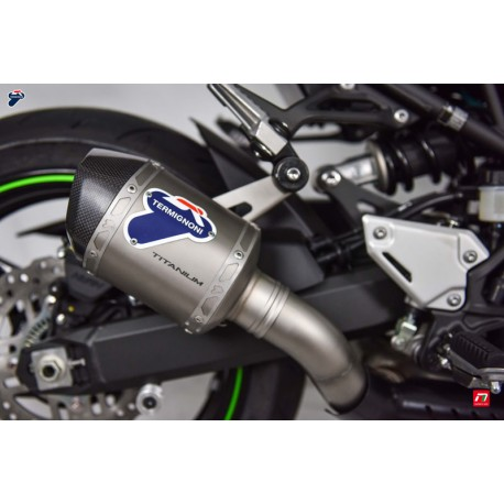 Slip on exhaust Termignoni hexagonal titanium with carbon end cap for Kawasaki Z900 2017-2019