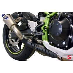 Slip on exhaust Termignoni conical titanium alloy with CNC anodised end cap for Kawasaki Z900 2020