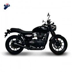 "Ligne Termignoni inox Triumph Street Twin 900 2016, illustration version ""Black"" (ref. T00909000BBX)"