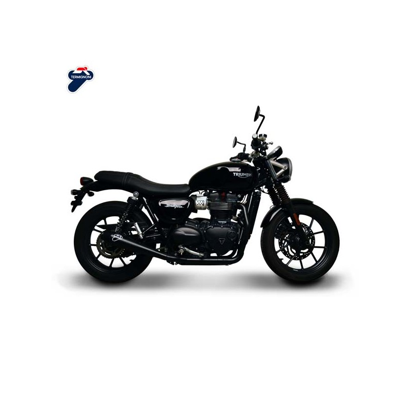 complete exhaust termignoni for triumph street twin 900. Black Bedroom Furniture Sets. Home Design Ideas