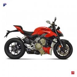 """Silencieux Termignoni 'Black Edition"""" Ducati Streetfighter V4 1100, V4 S 1100 2020-2021"""