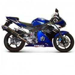 Silencieux Termignoni alu homologué Yamaha YZF-R6 2003-2005, illustration version carbone (plus au catalogue)