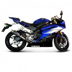 "Y077080CR - Silencieux Termignoni ""Style GP"" carbone homologué Yamaha YZF-R6 2006-2016"