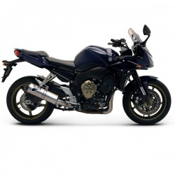 """Silencieux Termignoni """"look carbone"""" homologué Yamaha FZ1 (06-15), illustration version titane (ref. Y098080TV)"""