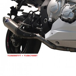 Suppresseur de catalyseur Termignoni titane Yamaha YZF-R1 2015-2019