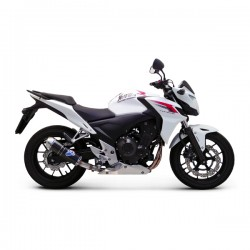Silencieux Termignoni homologué carbone embout inox Honda CB 500/CBR 500 2013-2015